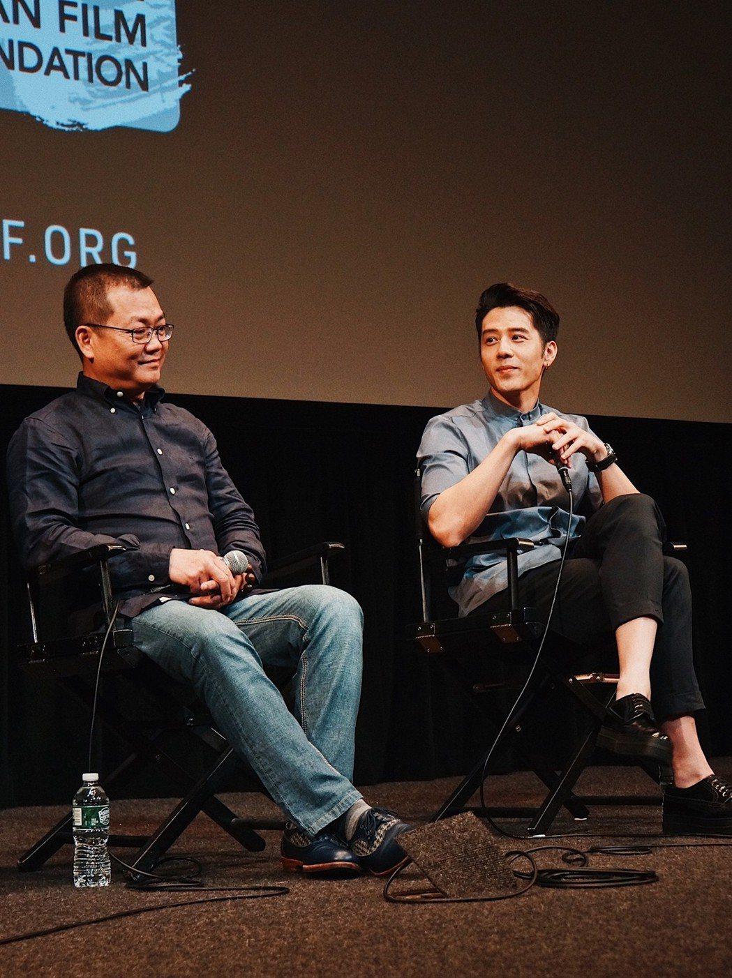 胡宇威、導演黃朝亮帶新片「寒單」前進紐約亞洲電影節,引起不小轟動。圖/寶麗來提供