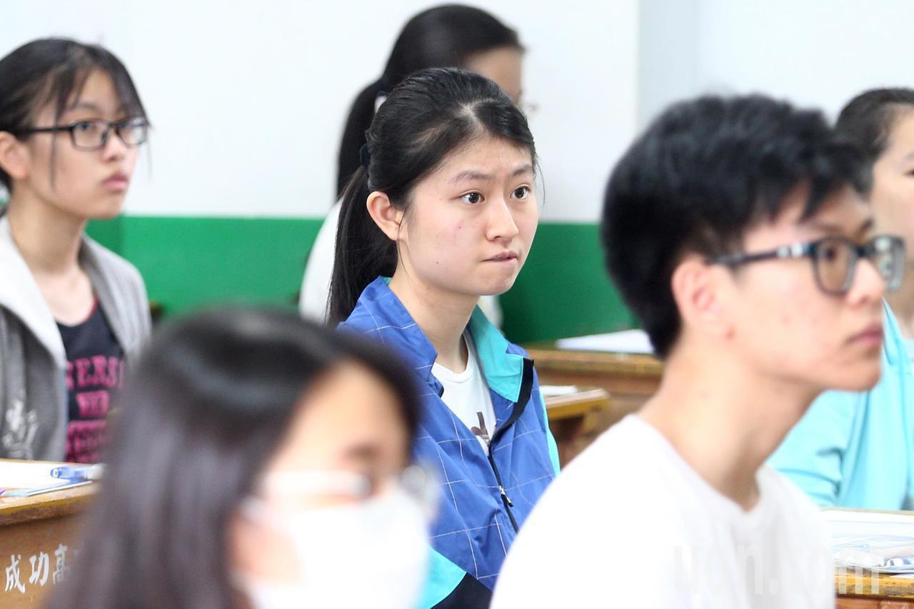 108年指考今天登場,第三節考生物科,台北市成功高中卻傳出試務狀況。報系資料照