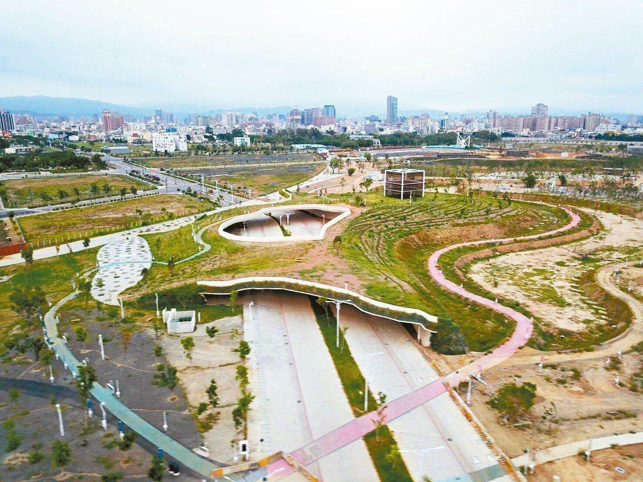 台中中央公園占地67公頃,種植1萬棵台灣本土樹種,將成為台中綠肺。 圖/台中市新...