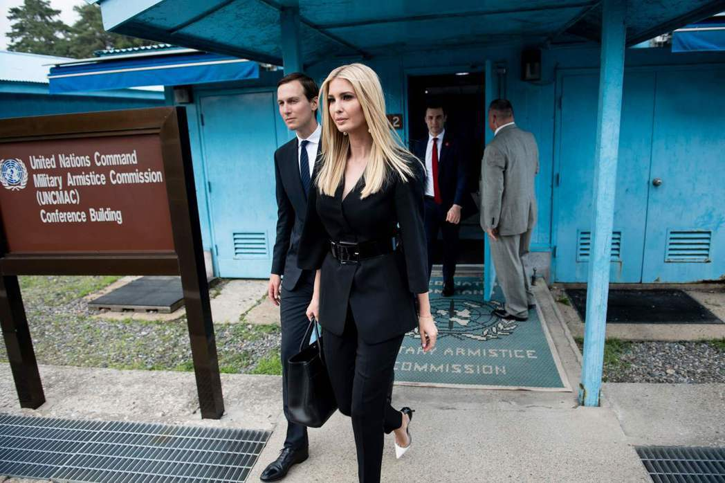 伊凡卡與丈夫庫許納陪同川普訪韓,6月30日參訪了非軍事區內的聯合國軍事停戰委員會...