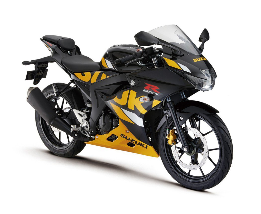 Suzuki GSX-R150 黑/黃。 圖/Suzuki提供