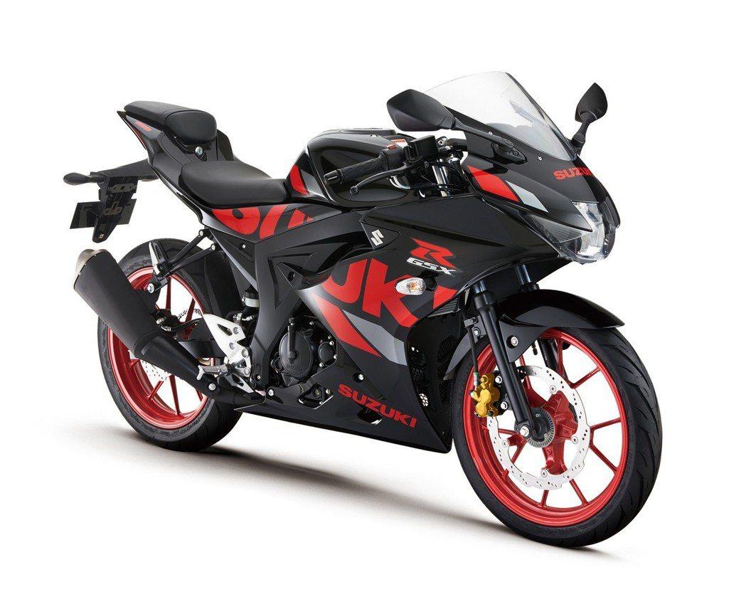 Suzuki GSX-R150 黑/紅。 圖/Suzuki提供