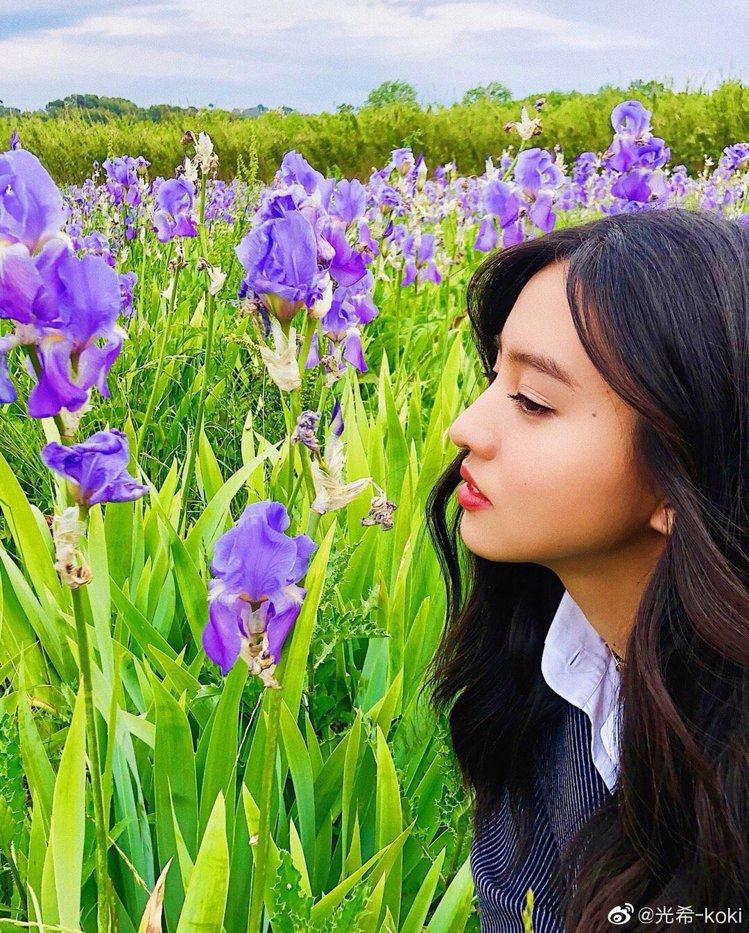 木村光希在微博所分享的首張照片。圖/擷自微博