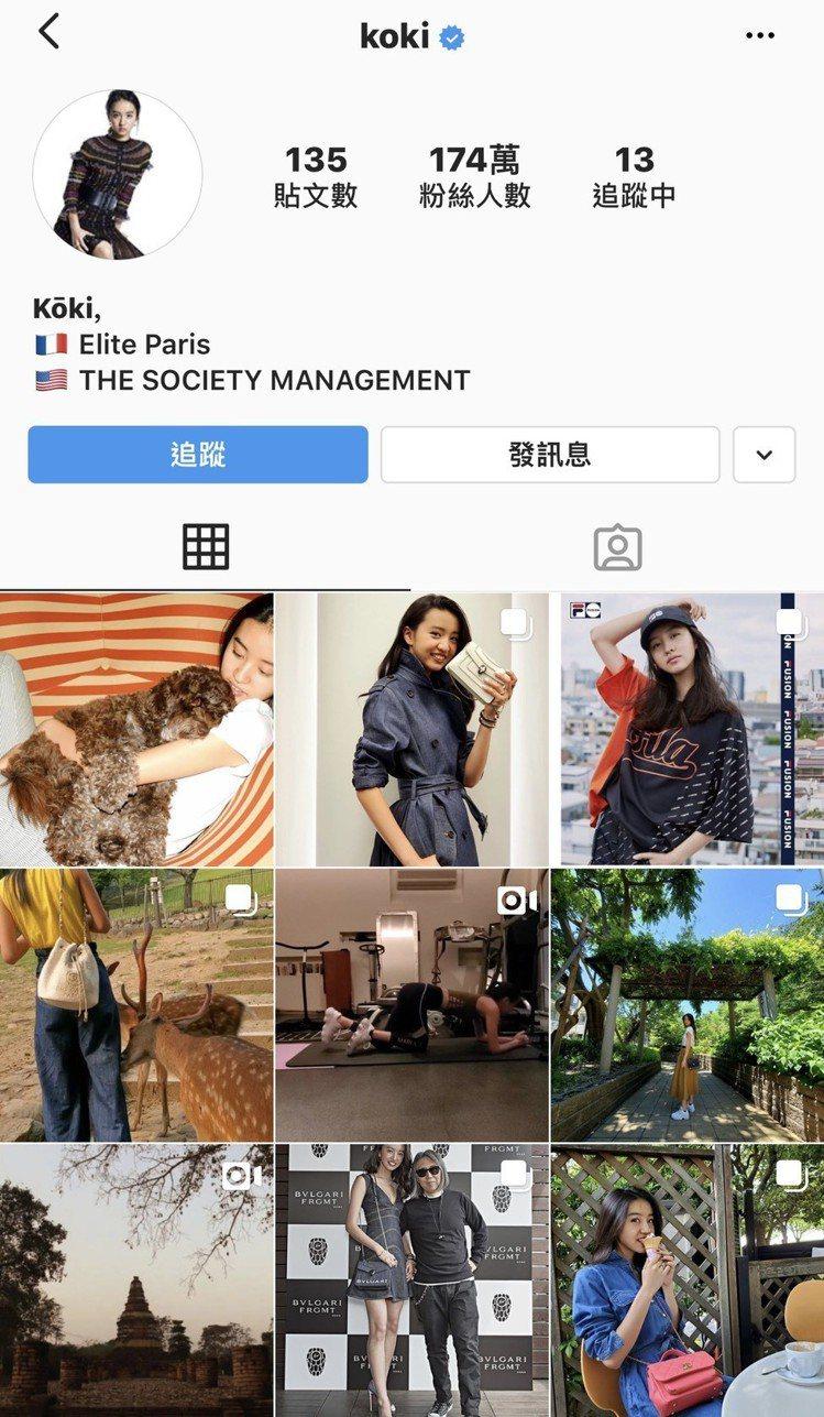 木村光希instagram與微博所分享的照片沒有重複。圖/擷自instagram