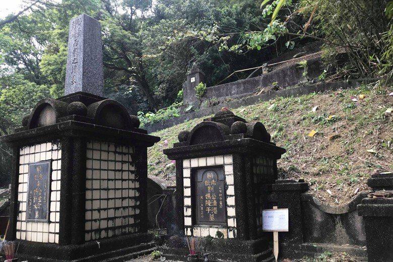 李梅樹家族墓園遭拆前一景。 圖/李景文提供