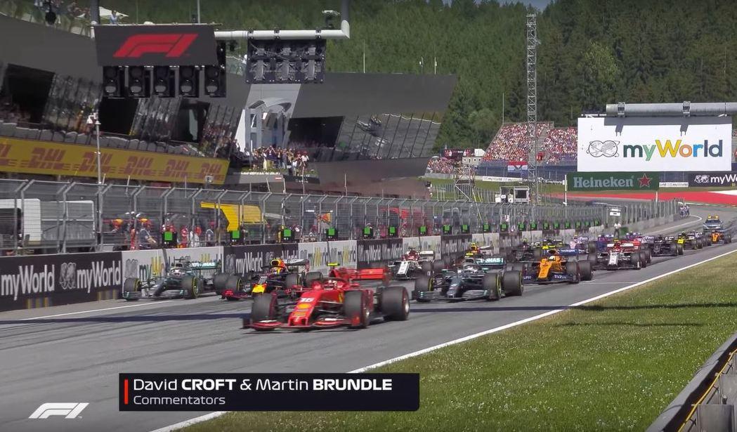 Verstappen起跑發生嚴重失誤。 摘自F1