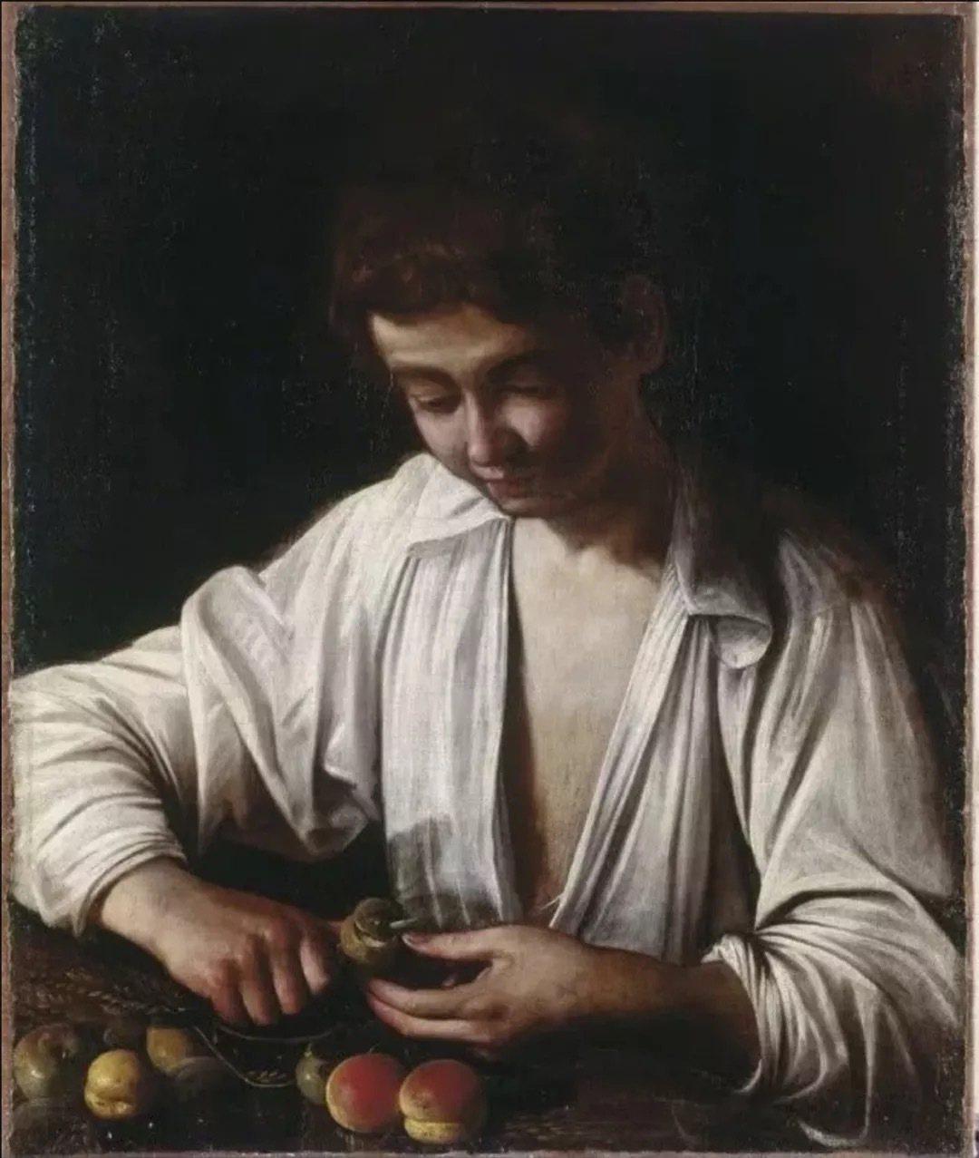 〈剝水果的男孩〉被認為是卡拉瓦喬最早留存下來的畫作,2015年在佳士得流拍。