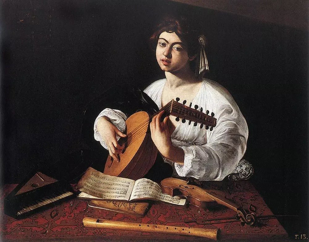〈The Lute Player〉1596