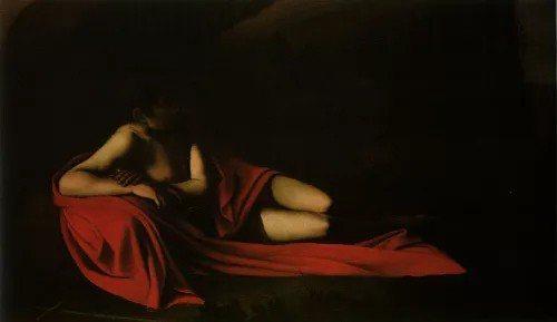 〈Saint John the Baptist Reclining〉1610