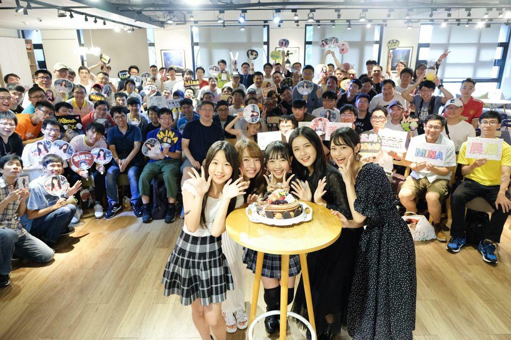 女團AKB48 Team TP與粉絲共度美好下午。圖/好言娛樂提供
