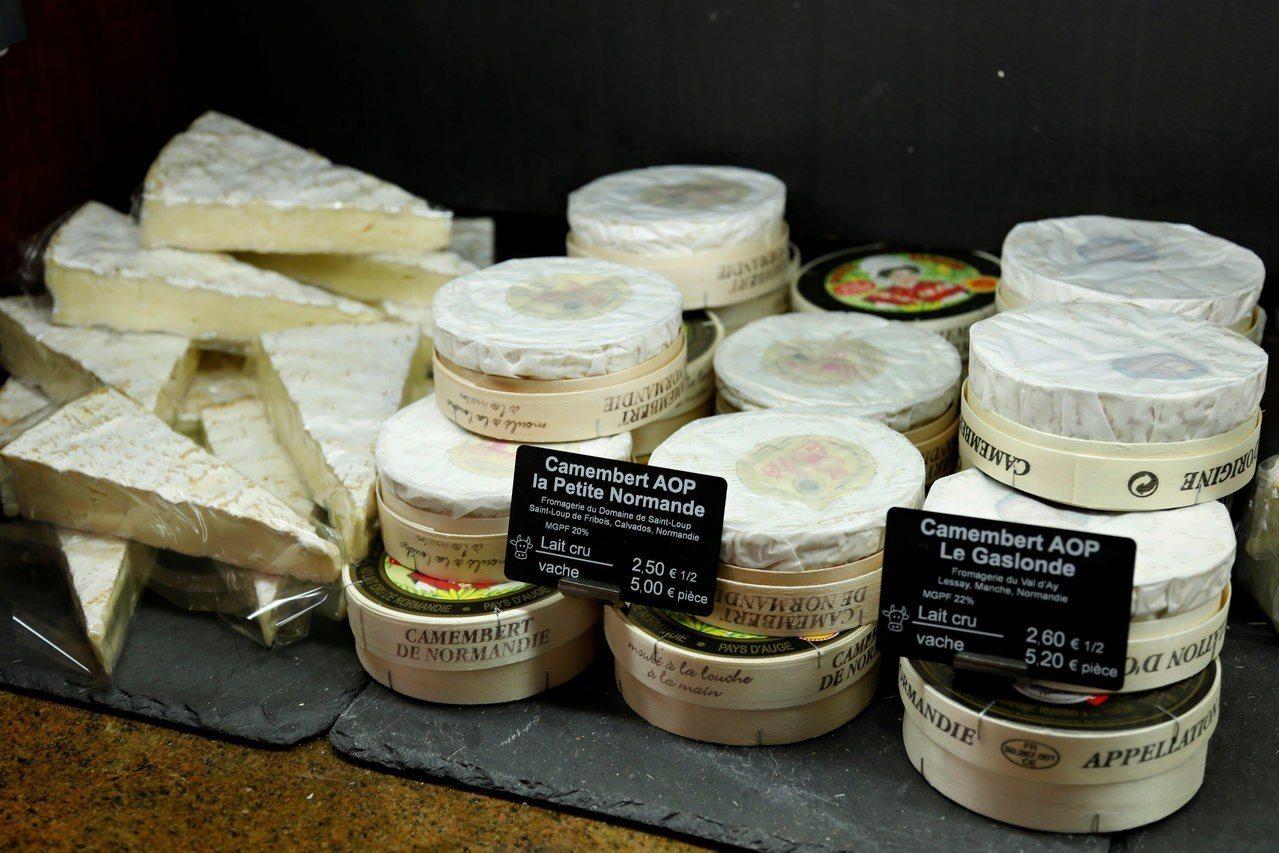 美國準備對歐盟40億美元商品加徵關稅。圖為法國的乳酪。路透