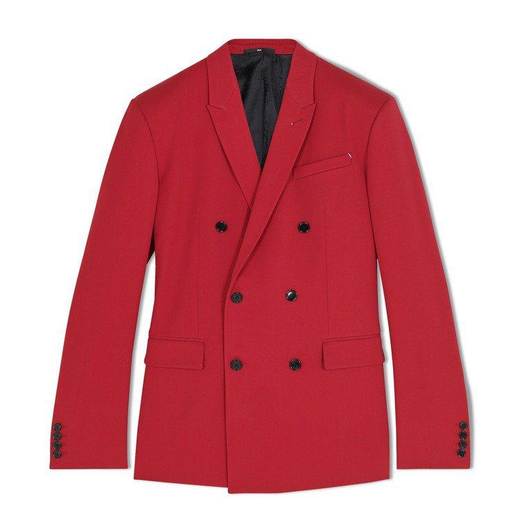 炎亞綸穿著Berluti秋冬系列紅色羊毛西裝外套,10萬2,000元。圖/Ber...