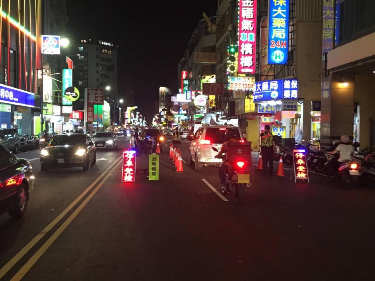 酒駕新罰7月上路,台中市警方大動作擴檢稽查。圖/台中市政府警察局第一分局提供