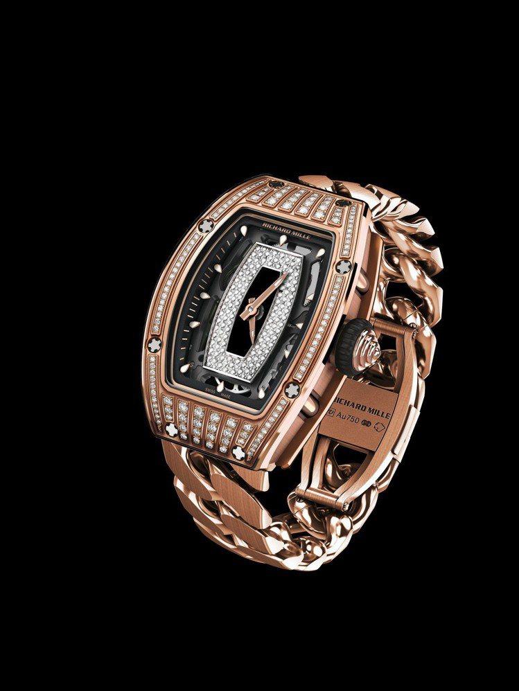 RICHARD MILLE RM 07-01自動上鍊腕表,5N紅金表殼及表鍊,搭...