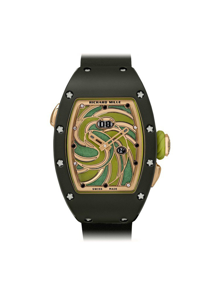 RICHARD MILLE RM 37-01Sucette棒棒糖腕表,綠色陶瓷和...