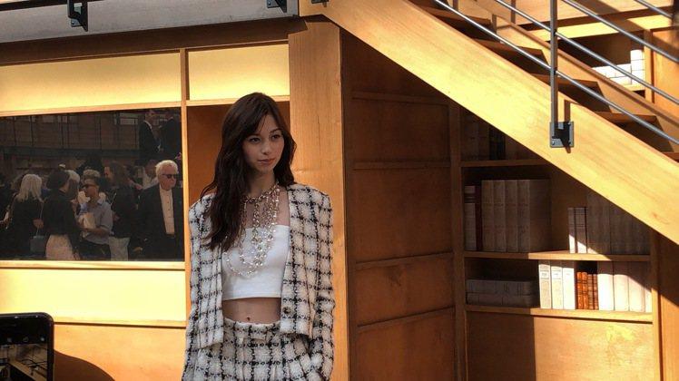 日本女星中條彩未出席香奈兒2019秋冬高級訂製服秀。記者孫曼/攝影