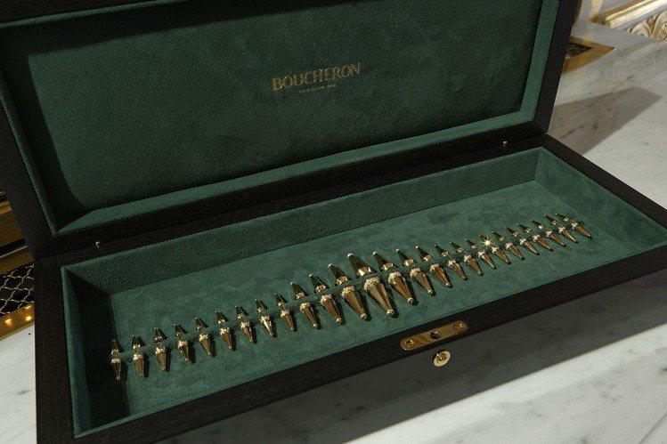 JACK系列的高級珠寶首度亮相,一盒26件可隨意選擇配戴。圖/寶詩龍提供