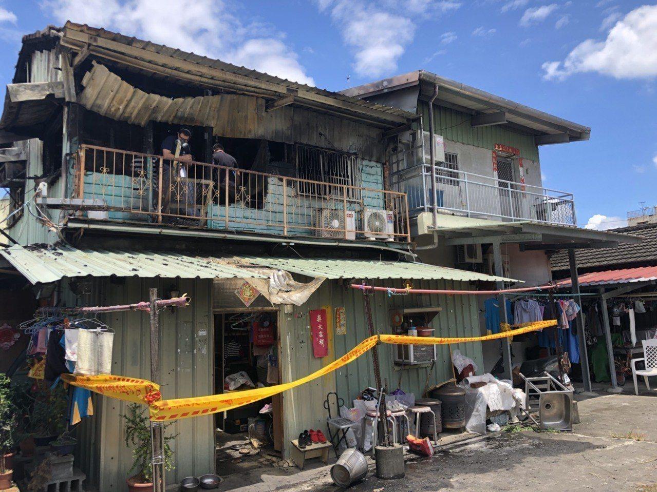 嘉義市美源街日前發生民宅火警,造成2名女童身亡。記者李承穎/攝影