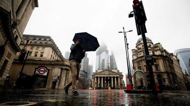 英國倫敦金融城。路透社