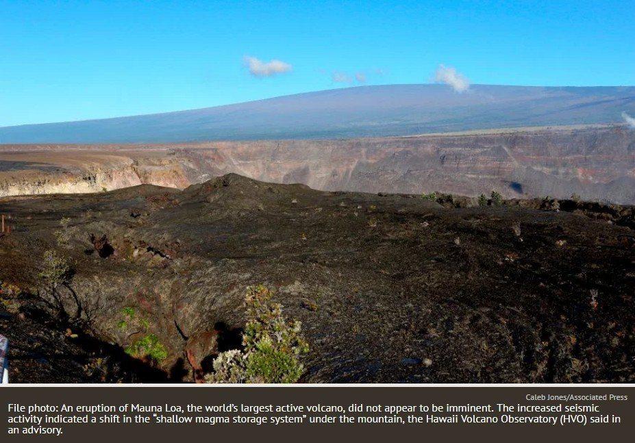 圖為美國夏威夷的毛納羅亞火山。 圖擷自mercurynews
