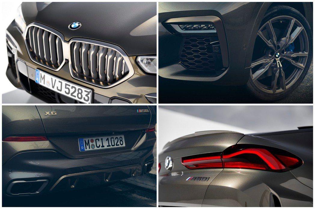 第三代BMW X6 外觀特色。 摘自BMW