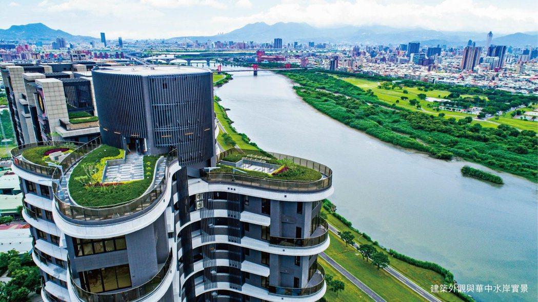 「冠德蝴水映」為樓高百米蝶形建築。圖/冠德建設提供