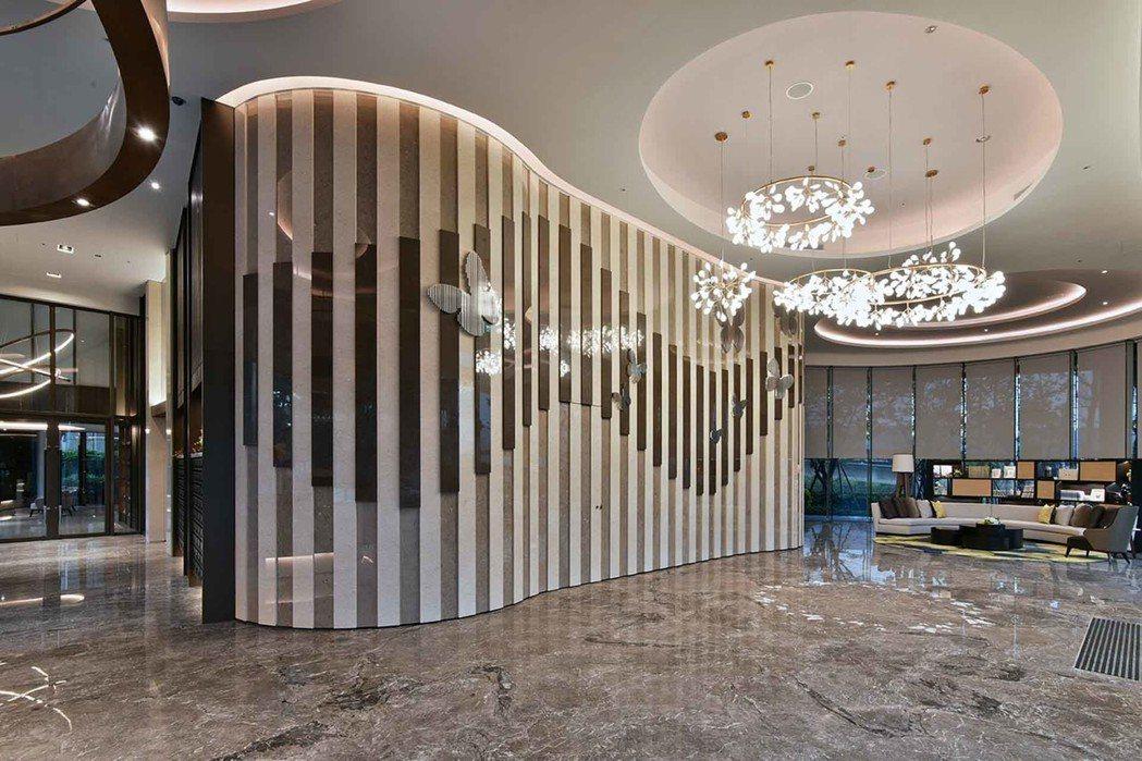 「冠德蝴水映」一樓大廳。圖/冠德建設提供