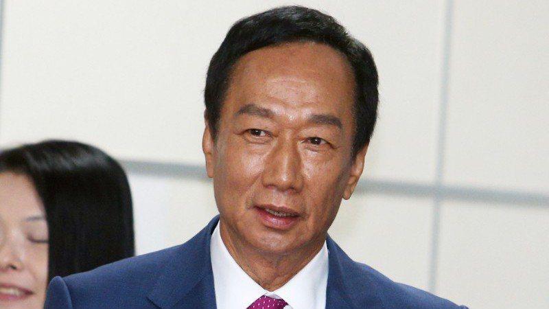 國民黨總統參選人郭台銘。 記者劉學聖/攝影