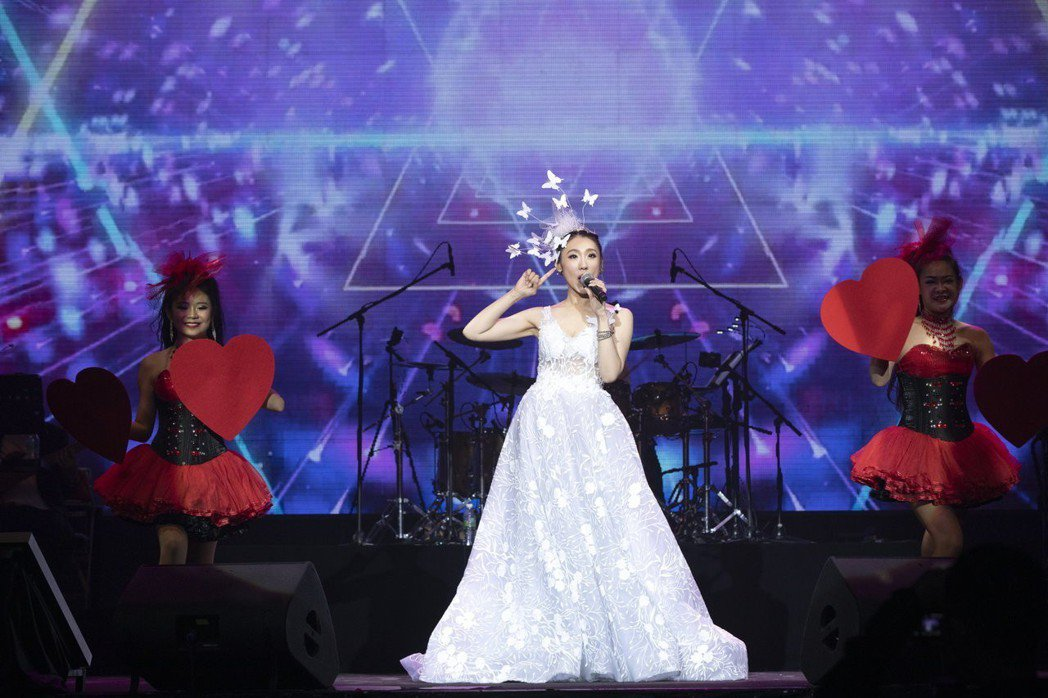 謝金晶首度站上大馬雲頂世界舉行「晶玉良言」演唱會。圖/豪記提供
