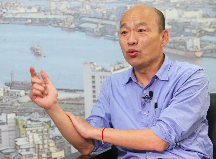 高雄市長韓國瑜。聯合報資料照片