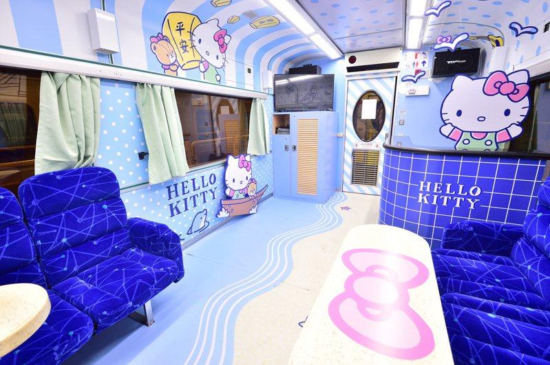Hello Kitty環島之星觀光列車新裝。圖/台鐵提供