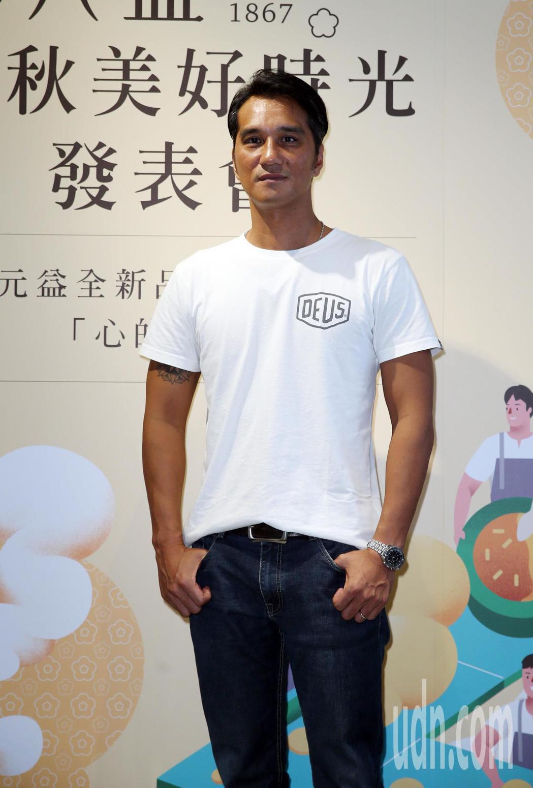 馬志翔下午出席郭元益「心的溫度」首映暨秋節客製化品評會。記者曾吉松/攝影