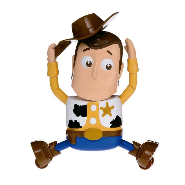 7-ELEVEN獨家販售的《玩具總動員4》發條公仔-胡迪款會跳舞和劈腿。圖/7-...