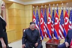 北韓電視台獨家播出 金正恩與尹凡卡握手畫面
