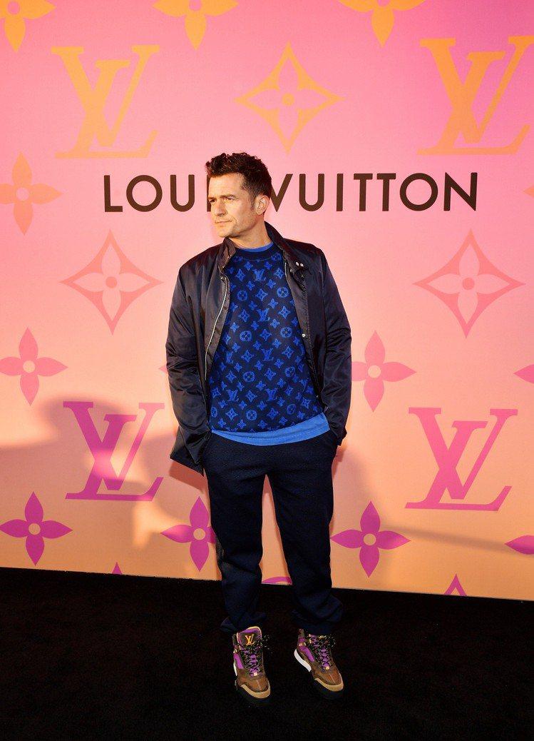 奧蘭多布魯穿著2019早秋帥氣高筒男鞋出席LOUIS VUITTON X 聯名展...