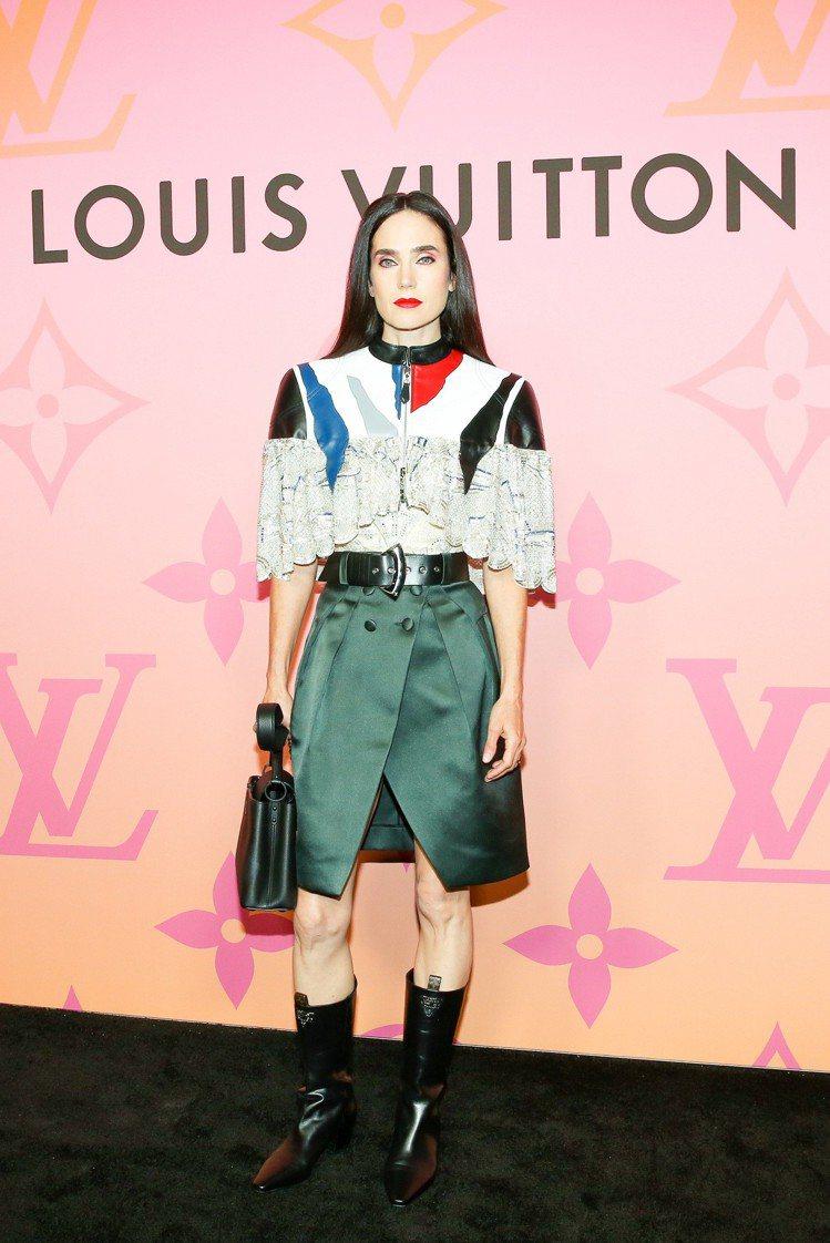 路易威登品牌好友珍妮佛康娜莉參加LOUIS VUITTON X 聯名展活動。圖/...