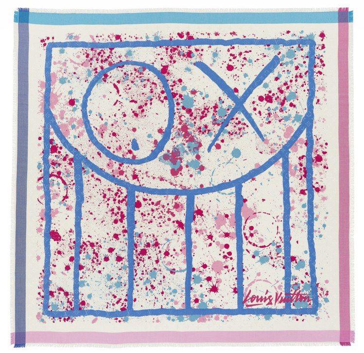 巴黎藝術家André設計的2014年春夏披巾,結合其經典OX眼虛擬人物Mr.A。...