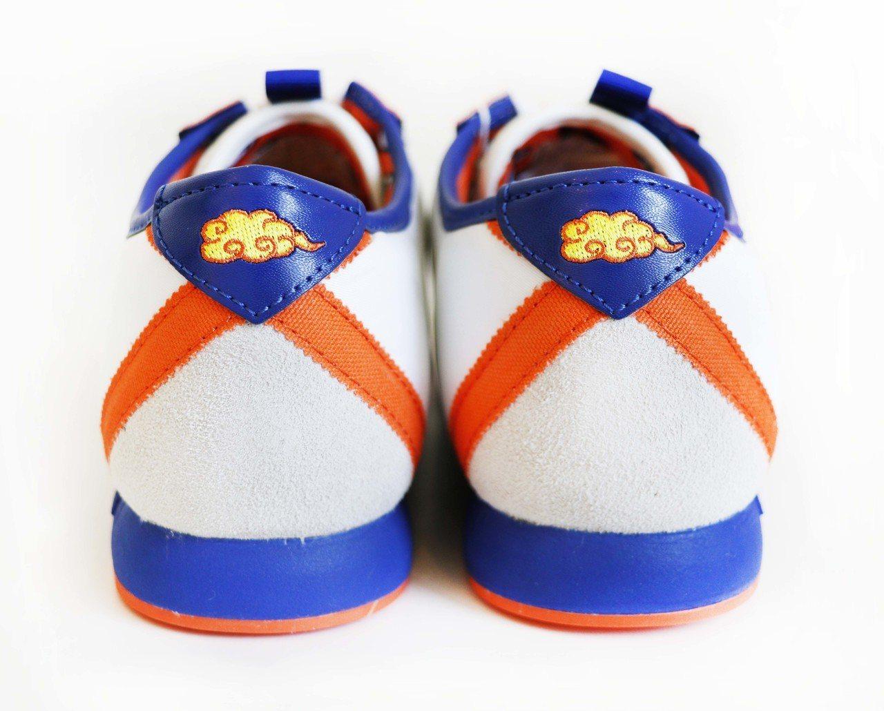 孫悟空鞋款後跟觔斗雲圖形。圖/滿心企業提供