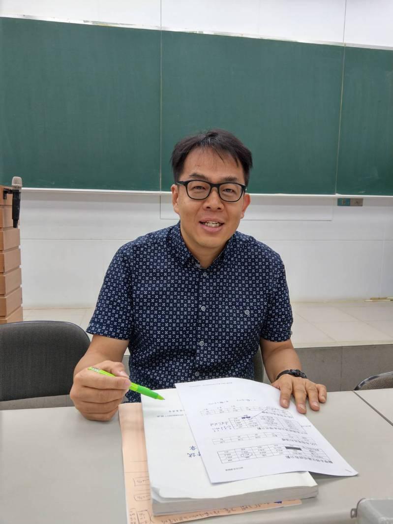 升學輔導專家劉駿豪。記者張錦弘/攝影