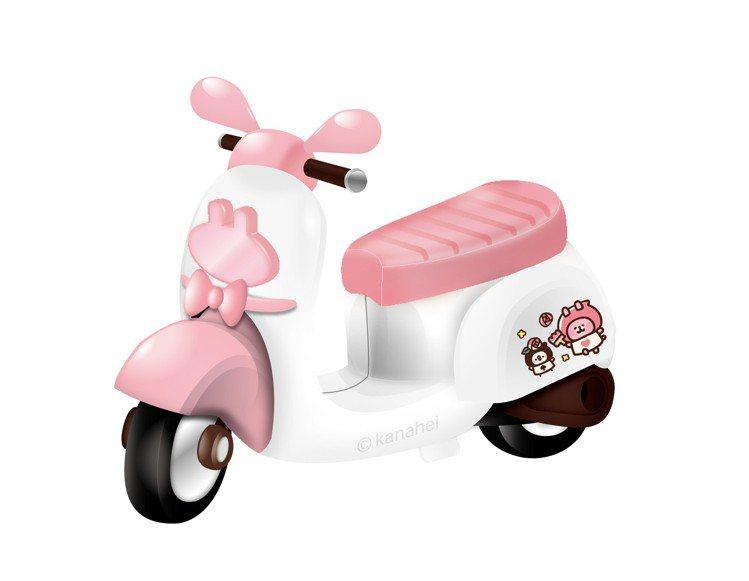 「卡娜赫拉的小動物」小機車模型經典頭燈-花園款。圖/7-ELEVEN提供