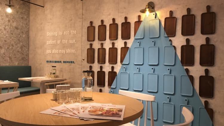 Su/food中山二店的網美打卡牆。圖/Su/food提供