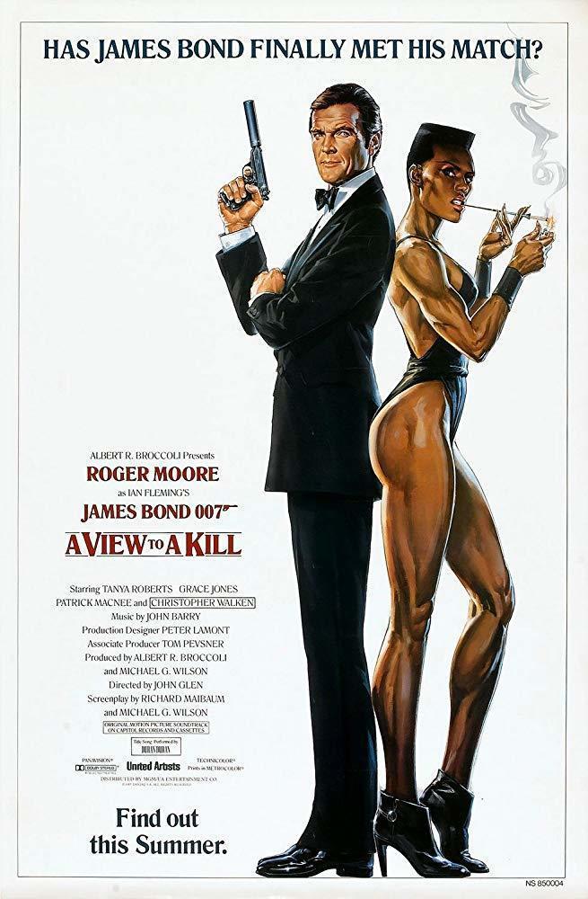 「雷霆殺機」曾有只主打羅傑摩爾和葛麗絲瓊斯的海報。圖/摘自imdb