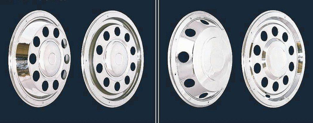 冠勉卡車、貨車輪圈裝飾蓋產品。 冠勉公司/提供