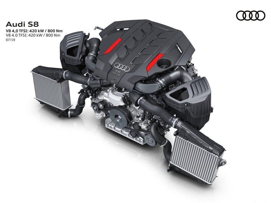 .0升V8 Bi-Turbo雙渦輪增壓引擎,有著563hp、81.5kgm的動力...