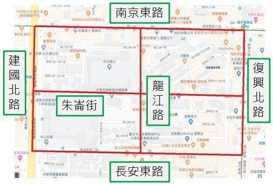 遼寧街周遭計757格機車停車格。圖/停管處提供