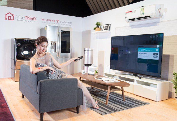 LG 2019年電視系列新品,全新搭載智慧物聯網功能,化身智慧家庭的家電中樞。圖...