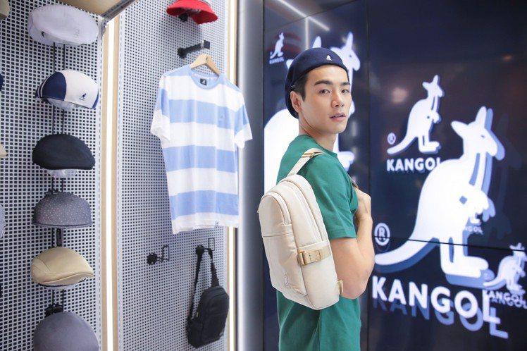 禾浩辰受邀出席KANGOL全台首家旗艦店開幕。圖/KANGOL提供
