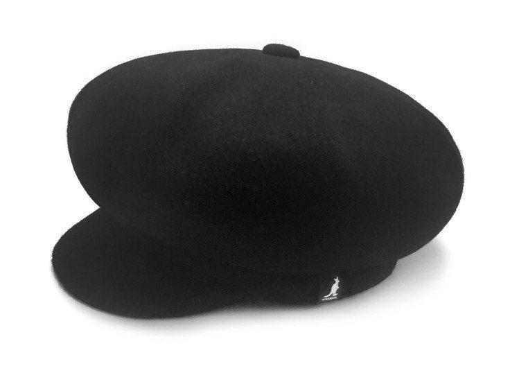 KITH聯名報童帽曜石黑,售價5,580元。圖/KANGOL提供
