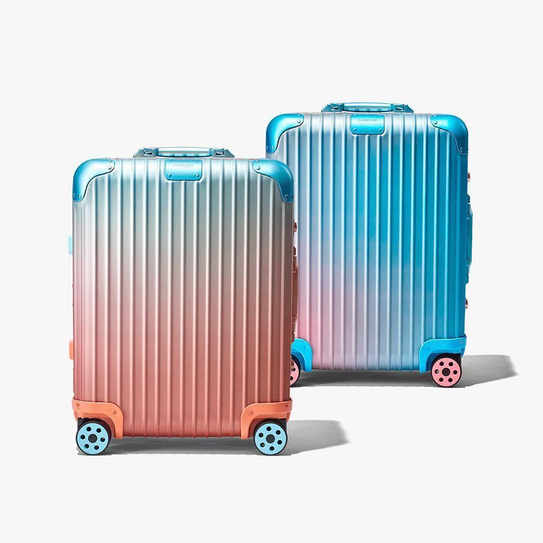 艾力克斯.伊斯瑞爾也和RIMOWA合作聯名行李箱。圖/取自IG