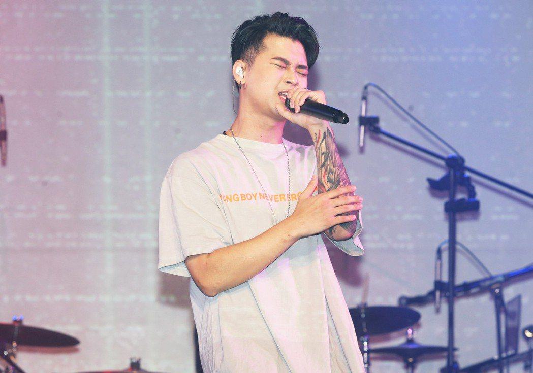 新生代饒舌歌手高爾宣為台北Legacy演唱會彩排。記者徐兆玄/攝影